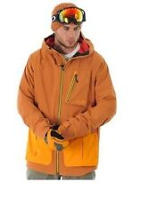New Oakley Fairhaven Gore-Tex Jacket Ski/Snowboard Coat Cinnamon $500 Waterproof