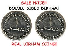 DOUBLE SIDED UAE DIRHAM COIN [AED ARAB EMIRATE DIRHAM DOUBLE HEADED / TAILED]