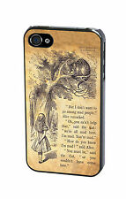 Disney Alice in Wonderland Cheshire Cat Vintage Quote Case Cover for iPhone