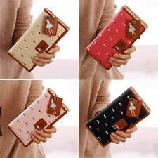 Womens Soft Leather Cute Girl Clutch Wallet Short Long PU Card Purse Handbag