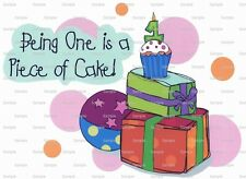 First Birthday Piece of Cake ~ Frosting Sheet Cake Topper Edible Image ~ D2182