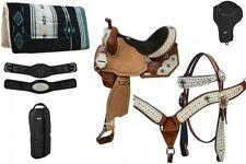 "8 Piece Western Barrel Saddle Package 14"" 15"" or 16"" NEW by Double T HORSE TACK"