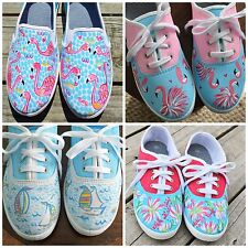hand painted Lilly inspired canvas fashion shoes