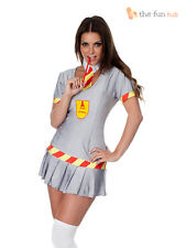 Ladies Sexy School Girl Student A Level Costume Uniform Adult Hen Do Fancy Dress