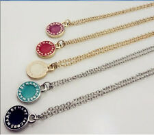 New Classical MARC BY M JACOBS Disk Necklace 5 colors available