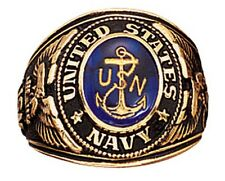 Military Ring - Navy Deluxe Engraved Made in US by Rothco