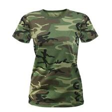 Rothco Womens T-Shirt - Camouflage, Woodland Camo By Rothco