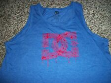 DC SHOES New Mens Tank Top Sleeveless Shirt Blue Red Logo LARGE XL