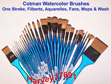 Winsor & Newton Cotman Watercolor Brushes - Flats, Filberts, Fans, Mops & Wash