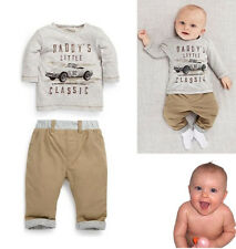 Baby Boys Fall Casual Clothes Long Sleeve Tops Shirt Pants Outfits Set 1~4Years