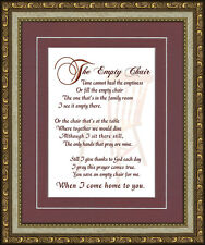 The Empty Chair Memorial Poem Frame Gift in Remembrance Words of Encouragement