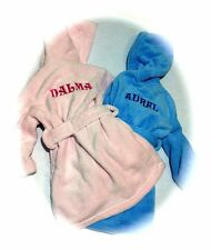 Embroidered Personalised Soft Baby Bath Robe Dressing Gown Boy Girl Gift