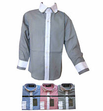Boys New Stylish Formal/Smart Button Down Collar Shirt Long Sleeved 2Y-12Y