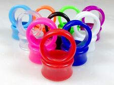 10 PAIR SET - Solid Color Ear Tunnels Plugs Gauges Earlets - up to size 30mm!