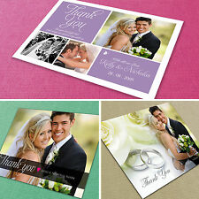 50 Personalised Wedding Thank You Cards with Envelopes ★Incl Your Photos! ★