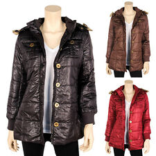 Womens Winter Jacket Hooded Down Fur Long Coat Parka Warm Puffer S M L XL 2X 3X