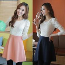 Fall and winter clothes new sweet lace dress stitching
