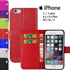 Magnetic Flip Leather Book Wallet  Pouch Case Cover For Apple iPhone 6 & 6 Plus