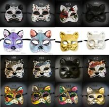 Day of the Dead Cat Mask - Gato Muerto - Cat Masquerade Mask, Lucky Cat Mask