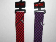 Hot Topic Skinny Tie, Choose Red & Black Checkered or Purple & Black Checkered