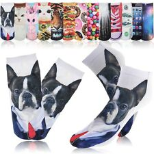 Newest 3D Printed Unisex Cute Low Cut Ankle Socks Multiple Colors Harajuku Style