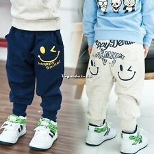 Stylish Baby Kids Boys Girls Clothes Harem Pants Trousers Cartoon Design 2-7Y V4