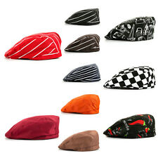 New Stripe Chef Hat Cookie Baker Cap Beanie Unisex Beret Solid Color Cook Hat