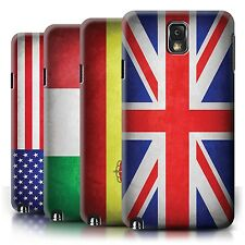 Phone Case Hard Back Cover/Skin for Samsung Galaxy Note 3 / Country World Flags