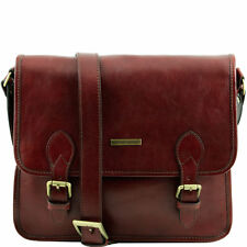TUSCANY LEATHER shoulder messenger bag genuine leather Made in Italy