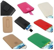 Pouch Case Lines Embossing + Belt Clip + Pull Tab VELCRO para   HTM H9503