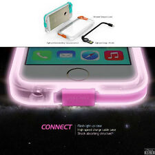 For iPhone 4G 5G 6G Flash Light Up Phone Case Cover Skin With High Speed Charge