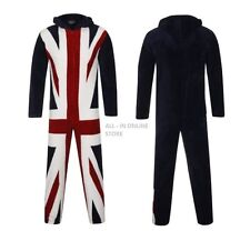 MENS UNION JACK ONESIE LUXURIOUS SUPER SOFT WARM FLEECE ALL IN ONE FANCY DRESS