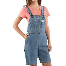 New Carhartt Denim Work Bib Overalls Shorts Women's $50 S/M/L/XL