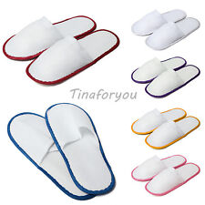 1/5 pairs of WHITE TOWELLING HOTEL SLIPPERS TERRY Spa Guest disposable Job lot