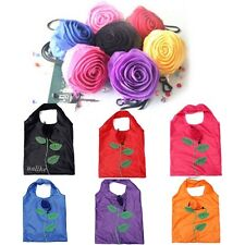HOT Fashion Rose Flowers Reusable Folding Shopping Bag Travel Grocery Bags Tote