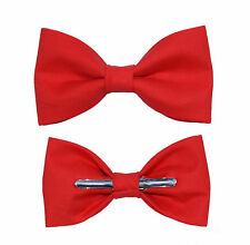 Coral Clip On Bow Tie