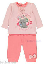 Tiny Tatty Teddy baby girl top trousers set NB-12 months reborn Me to You bears