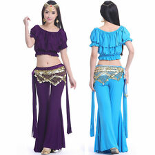 SF26# Belly Dance Fringe Tribal Costume (Top,Hip Scarf,Pants) 9 Colors