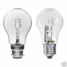 Dimmable GLS 70W = 100W Halogen Energy Saving Light Bulbs BC B22 ES E27 Cap PACK