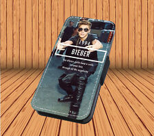 Justin Bieber For Faux Leather Flip iPhone & Samsung Galaxy Cover Case