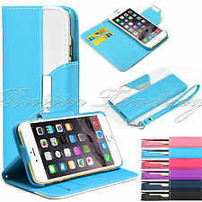"For Apple iPhone 6 5.5"" Magnetic Flip PU Leather Pouch Wallet Stand Case Cover"