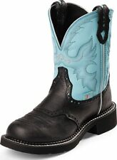 Justin Women's Gypsy Collection Western Boots Black Deercow Leather Medium L9905