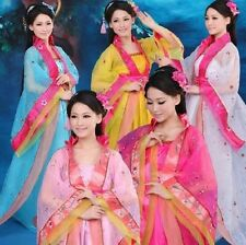 New Gorgeous Chinese Traditional Women  Classical Dance Costume Trailing Dresses