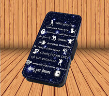 Disney Lessons Learned Mash Up For Faux Leather Flip iPhone & Samsung Case Cover