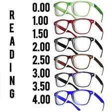 Wayfarer Reading Glasses 1.5  +2.5 Unisex  20 Models Trendy Designer Spring Geek
