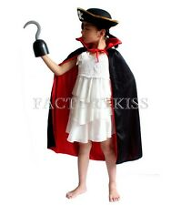 Halloween Kid's Costume Party Blinder Hook Cap Cloak of Pirate Child's Gift MUK