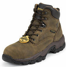 "Chippewa Men's 6"" Bay Apache Comp Toe Brown Nubuc Leather 55161 (D, M)"