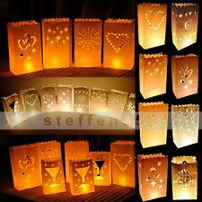 High Quantity Various Styles White Paper Candle Lantern Bags Wedding Party Favor