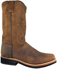 Mens Smoky Mountain Booneville 4028 Western Boot Brown Leather Square Toe Medium