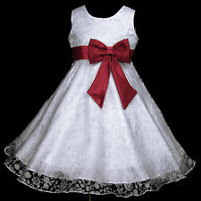 PR USaG w329 O20 Halloween X'mas Wedding Party Event Flower Girls Dress 2-12y